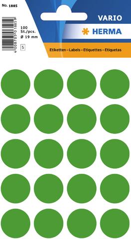 Markierungspunkt, Handbeschriftung, sk, Ø: 19 mm, dunkelgrün