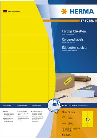 Etikett, I/L/K, sk, 105 x 37 mm, gelb