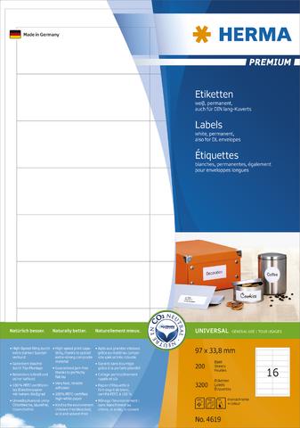 Etikett, I/L/K, sk, 96,5 x 33,8 mm, weiß