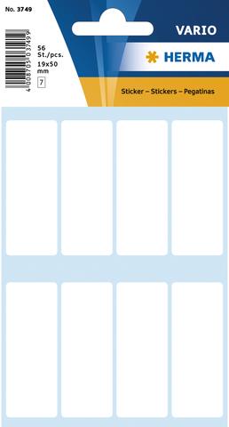 Etikett, Handbeschriftung, sk, Spezialpapier, 19 x 50 mm, weiß