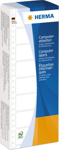 Tabellieretikett, sk, Papier, 1bahnig, 88,9 x 23 mm, weiß