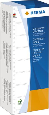 Tabellieretikett, sk, Papier, 1bahnig, 88,9 x 48,4 mm, weiß