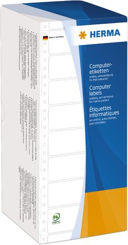 Tabellieretikett, sk, Papier, 1bahnig, 101,6 x 48,4 mm, weiß