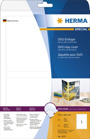 Etikett, DVD-Hüllen, I/L/K, Karton, weiß