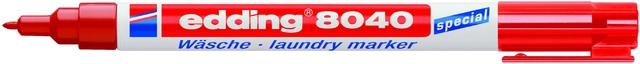 Wäschemarker 8040, Einweg, Rundspitze, 1 mm, Schreibf.: rot
