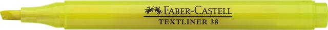 Textmarker TEXTLINER 38, Schaft: in Schreibfarbe, Schreibf.: gelb