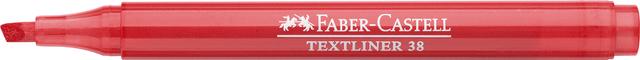Textmarker TEXTLINER 38, Schaft: in Schreibfarbe, Schreibf.: rot
