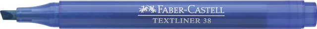 Textmarker TEXTLINER 38, Schaft: in Schreibfarbe, Schreibf.: blau
