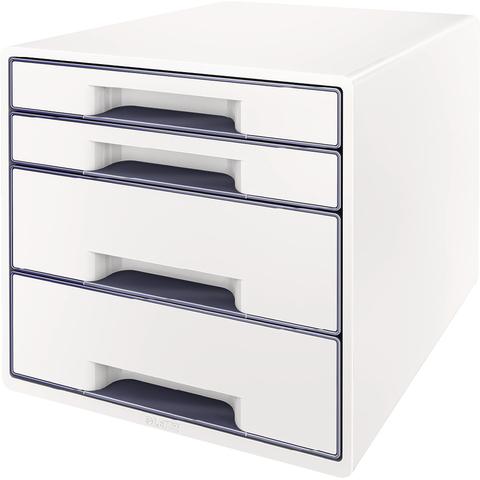 Schubladenbox WOW CUBE, mit 4 Schubladen, weiß/grau