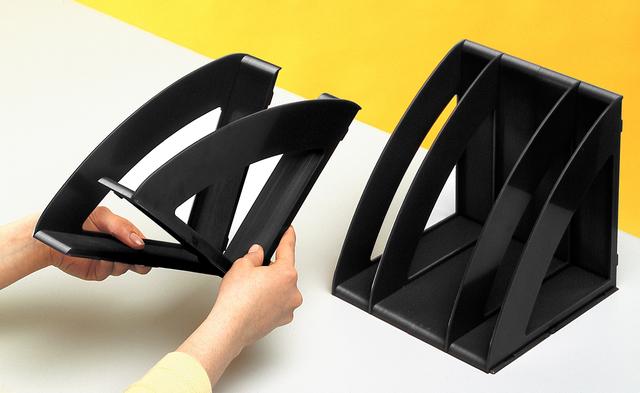 Ablagefach Confort, PS, 3 - 5 x A4, 300 x 220 x 220 mm, schwarz