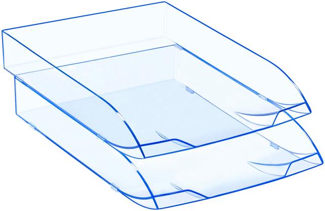 Briefkorb Ice, PS, A4, 270 x 370 x 61 mm, blau, transparent