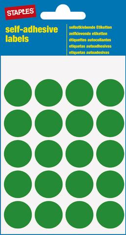 Markierungspunkt, auf Bogen, sk, Papier, Ø: 19 mm, grün