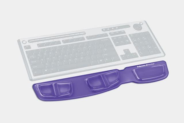 Handgelenkauflage Health-V™ Crystals™, Gel, für Tastatur, violett