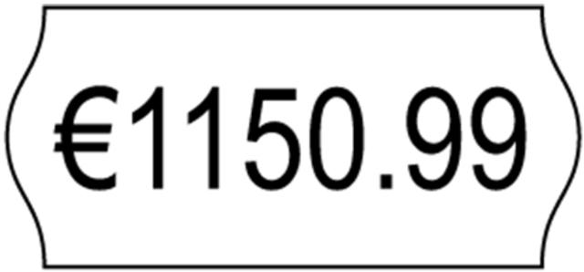 Etikett, Preisauszeichnung, Inkjet, selbstklebend, 26x12mm, weiß