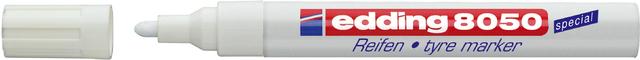 Reifenmarker 8050, Einw., Rsp., 2-4mm, Schaft: weiß, Schreibf.: weiß