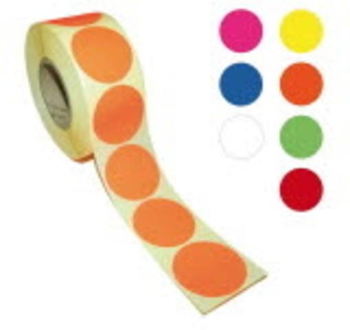 Markierungspunkt, auf Rolle, selbstklebend, rund, Ø: 40 mm, gelb