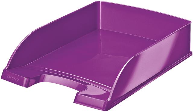 Briefkorb WOW, PS, A4, 255x357x70mm, violett, metallic