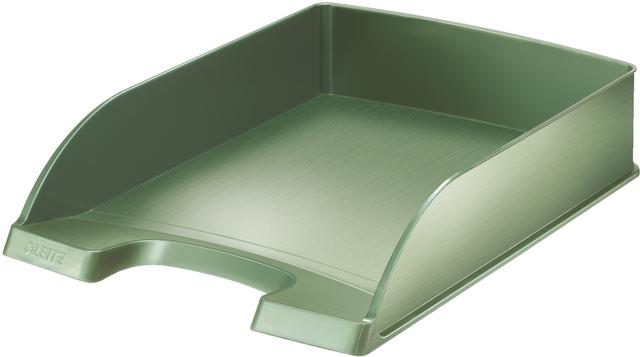 Briefkorb Style, Polystyrol, A4, 255 x 357 x 70 mm, seladongrün