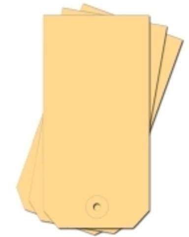 Anhängezettel, mit: Kartonöse, 190 g/m², 40 x 80 mm, chamois