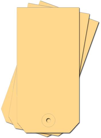 Anhängezettel, mit: Kartonöse, 190 g/m², 60 x 120 mm, chamois