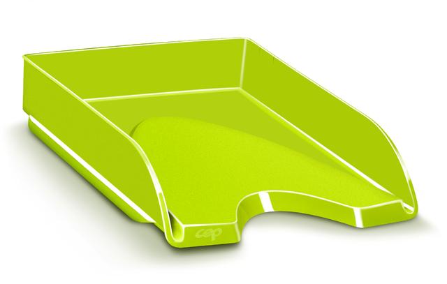 Briefkorb Gloss, PS, A4, 257 x 348 x 66 mm, anisgrün