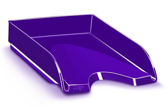 Briefkorb Gloss, PS, A4, 257 x 348 x 66 mm, violett