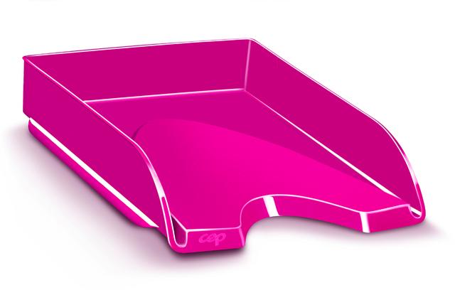Briefkorb Gloss, PS, A4, 257 x 348 x 66 mm, pink