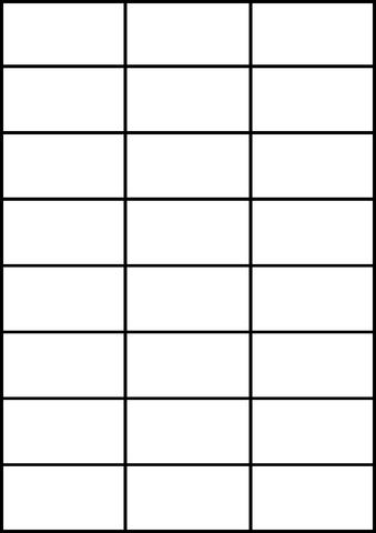 Etikett, I/L/K, A4-Bg., sk, perm., Papier, 70x37mm, weiß