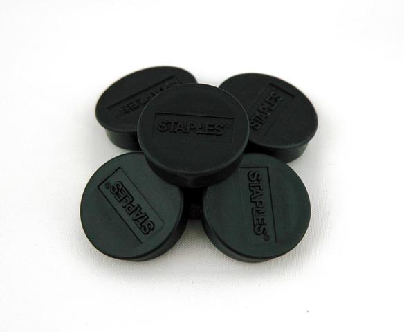 Magnet, für 8 Blatt A4 80 g/m², rund, Ø: 25 mm, schwarz