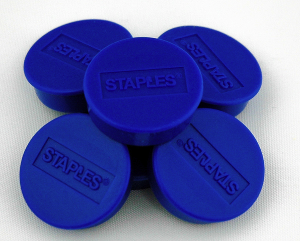 Magnet, für 4 Blatt A4 80 g/m², rund, Ø: 10 mm, blau