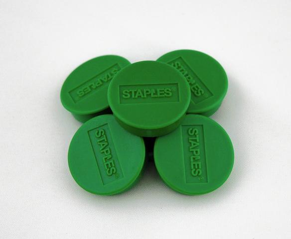 Magnet, für 15 Blatt A4 80 g/m², rund, Ø: 35 mm, grün