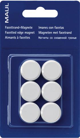 Magnet, rund, Ø: 20 mm, Haftkraft: 300 g, weiß