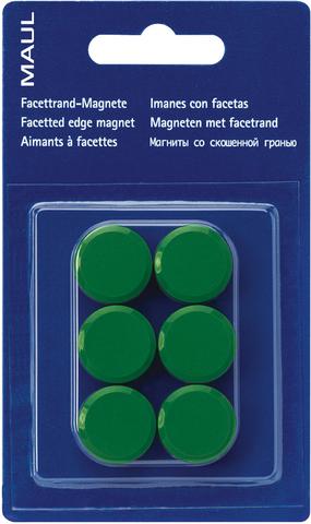 Magnet, rund, Ø: 20 mm, Haftkraft: 300 g, grün