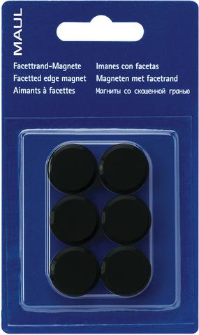 Magnet, rund, Ø: 20 mm, Haftkraft: 300 g, schwarz