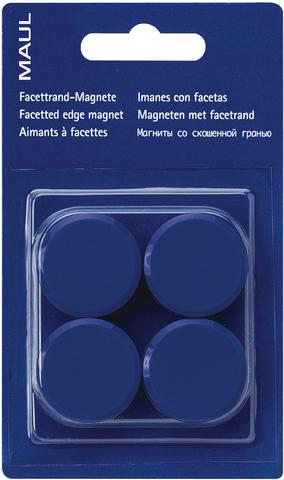Magnet, rund, Ø: 30 mm, Haftkraft: 600 g, blau