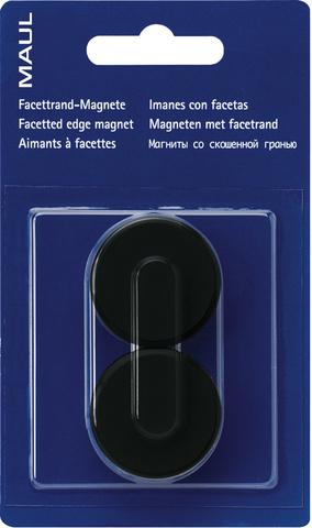 Magnet, rund, Ø: 34 mm, schwarz