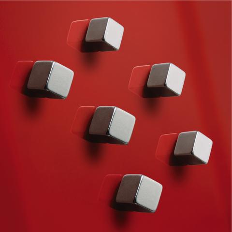 Magnet SuperDym C5, quadratisch, 10 x 10 mm, silber