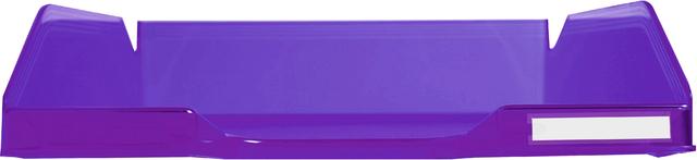 Briefkorb COMBO 2, PS, A4+, 255 x 347 x 65 mm, violett, transluzent