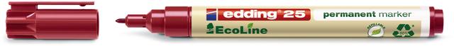 Permanentmarker, EcoLine 25, Rundspitze, 1 mm, Schreibf.: rot
