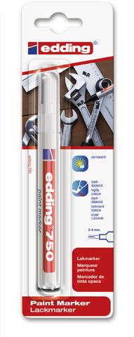 Marker, 750, Rundspitze, 2 - 4 mm, Schaft: weiß, Schreibf.: weiß
