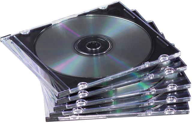 CD-Hülle, Slimline, für: 1 CD/DVD, farblos