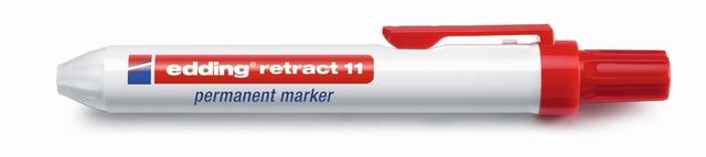 Permanentmarker retract 11, Rundspitze, 1,5 - 3 mm, Schreibf.: rot