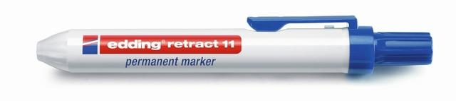 Permanentmarker retract 11, Rundspitze, 1,5 - 3 mm, Schreibf.: blau