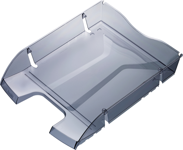 Briefkorb Greenlogic, PET, C4, 275 x 355 x 66 mm, grau, transparent