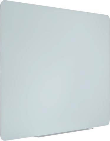 Schreibtafel, Hartglas, magnetisch, 90x60cm, weiß, ohne Rahmen