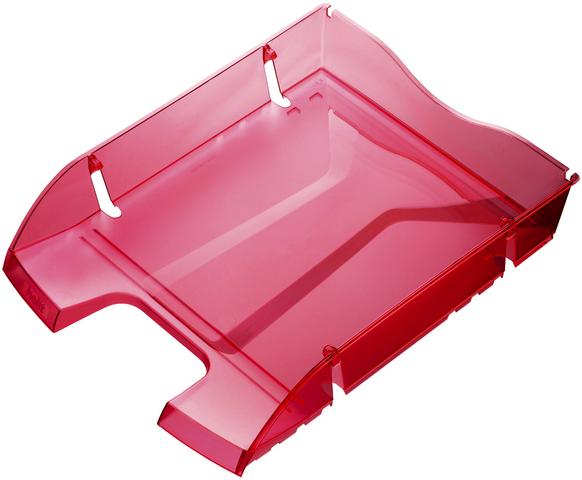 Briefkorb Greenlogic, PET, C4, 275 x 355 x 66 mm, rot, transparent
