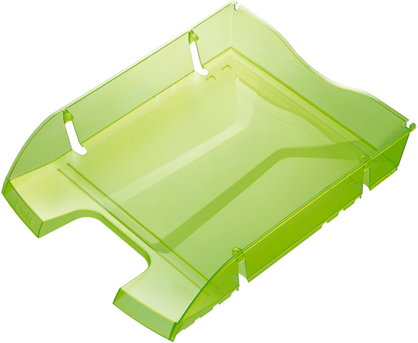 Briefkorb Greenlogic, PET, C4, 275 x 355 x 66 mm, grün, transparent