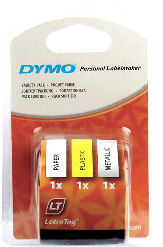 Schriftbandkassette, LetraTAG, Papier/Kunststoff/Metallic, 12 mm x 4 m