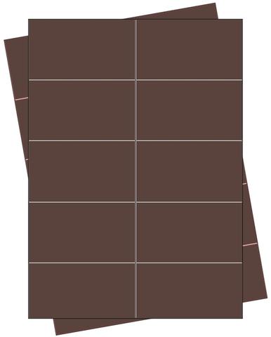 Etikett, Handbeschriftung, selbstklebend, permanent, 68 x 35 mm, braun