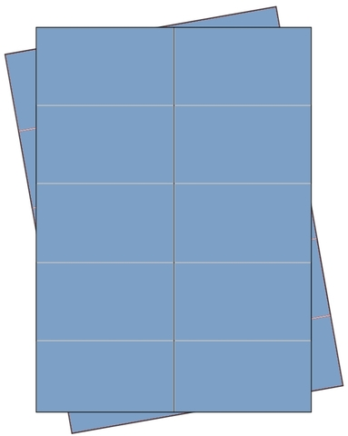 Etikett, Handbeschriftung, selbstklebend, permanent, 68 x 35 mm, blau